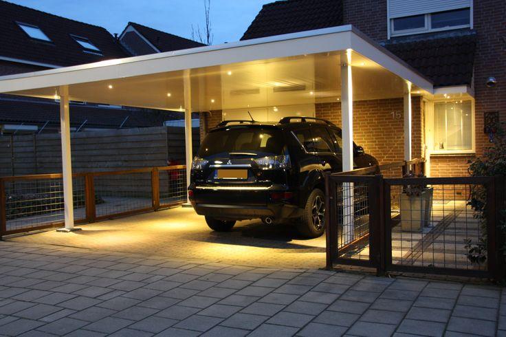 Een goed voorbeeld van een carport geschikt voor spat waterdichte led inbouwspots