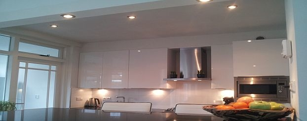 Led plafond spots in keuken
